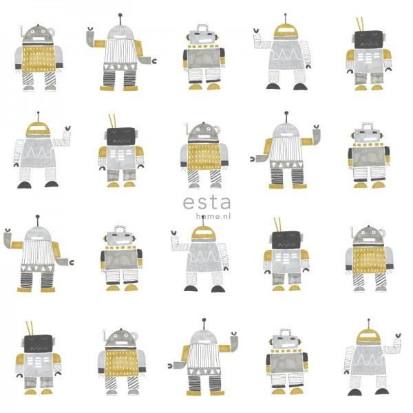Esta Home Little Bandits Vintage Robots behang 138940