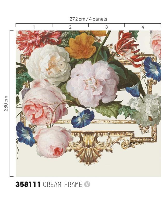 Eijffinger Masterpiece Wallpower 358111 Dutch Masters cream frame