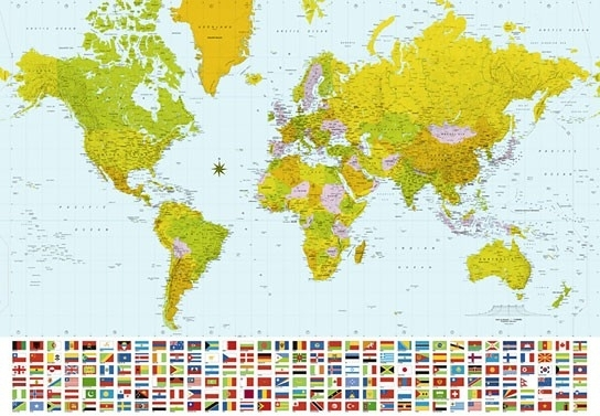 Idealdecor Map of the World  280
