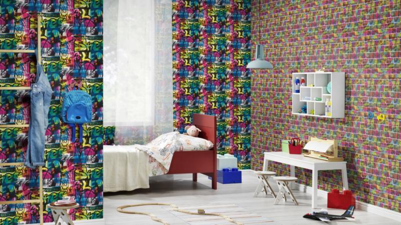 Rasch Kids & Teens II Bakstenen behang 291407
