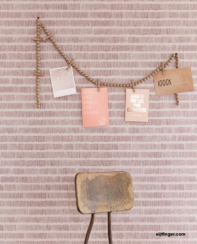 Eijffinger Resource Wallpower 369157 Solemn Lines Pale Pink