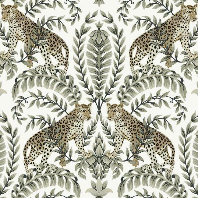 York Wallcoverings Ronald Redding 24 Karat behang Jungle Leopard KT 2202