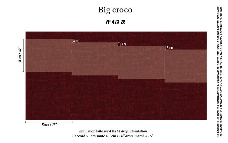 Élitis Anguille Big Croco Galuchat Big Croco behang VP 42328