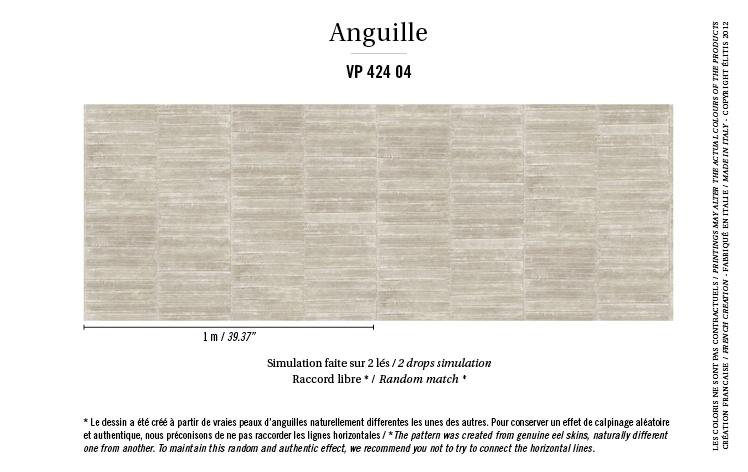 Élitis Anguille Big Croco Galuchat Anguille behang VP 42404