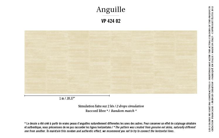 Élitis Anguille Big Croco Galuchat Anguille behang VP 42402