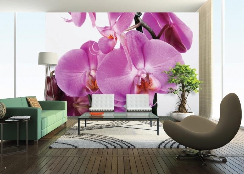 AG Design Fotobehang Paarse Orchideeën FTS0049