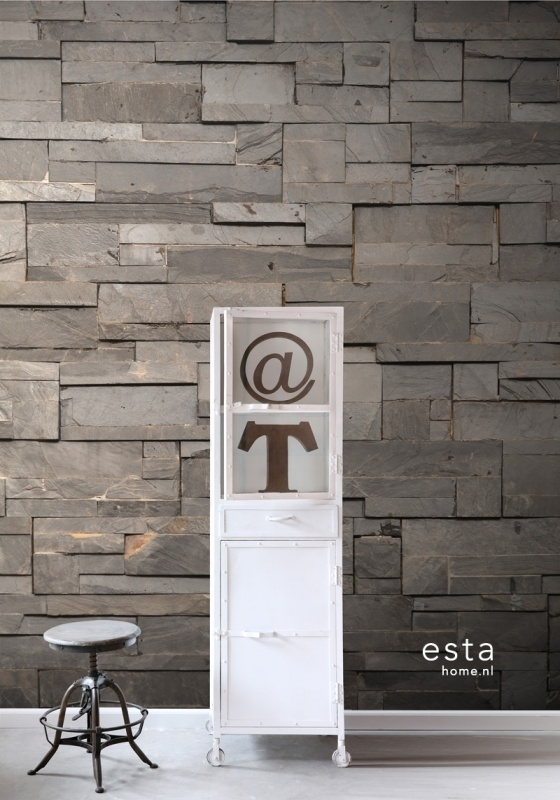 Esta Home Vintage Rules! PhotowallXL Plankjes hout 158208