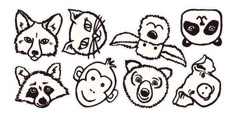 Eijffinger Wallpower Junior Stickers 864002 Animaux