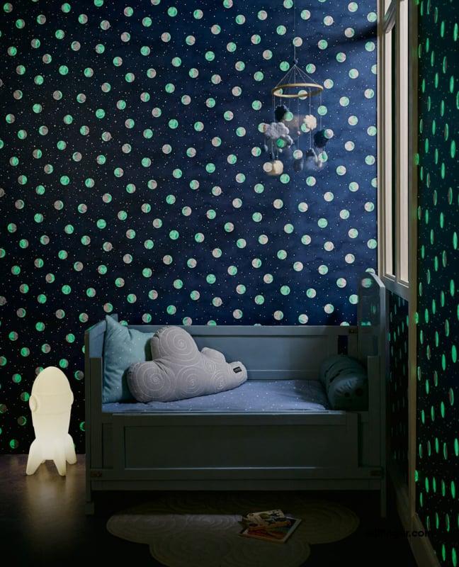 Eijffinger Mini Me behang Glow in the Dark 399032