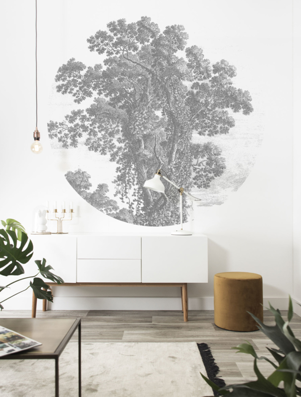 KEK Amsterdam Landscapes & Marble behangcirkel Engraved Tree CK-013