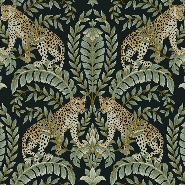 York Wallcoverings Ronald Redding 24 Karat behang Jungle Leopard KT 2205