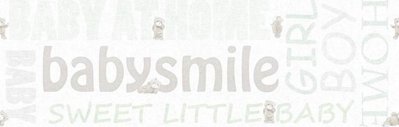 AS Creation Little Stars Babysmile behangrand 35848-1