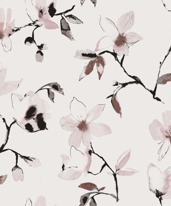 Khrôma La Vie en Rose behang Laetitia Woodrose LAV002