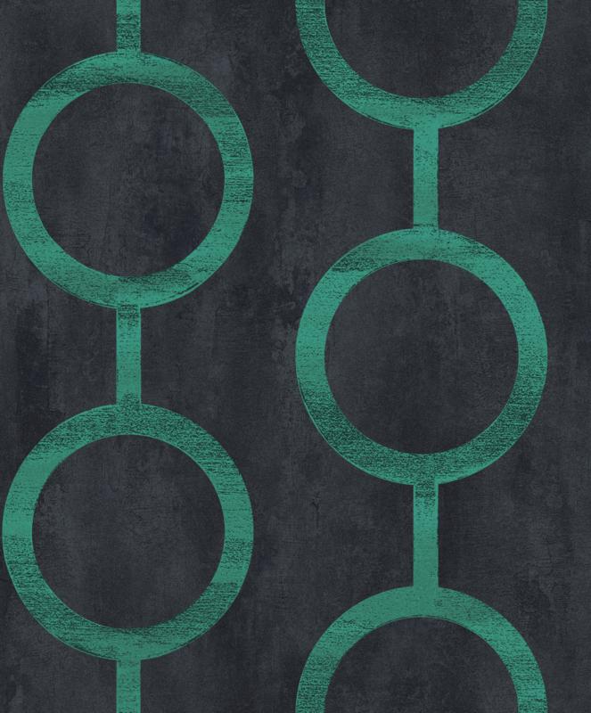 Khrôma Prisma behang Contemporary Teal PRI207