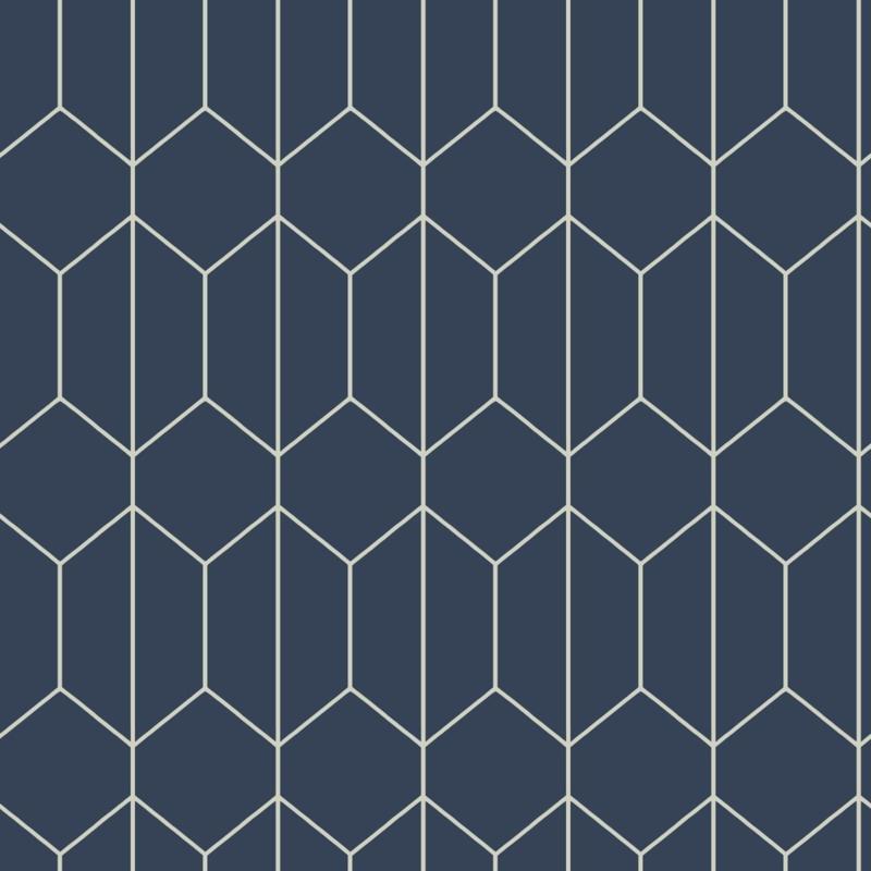 Arthouse Linear Geo Navy behang 909702