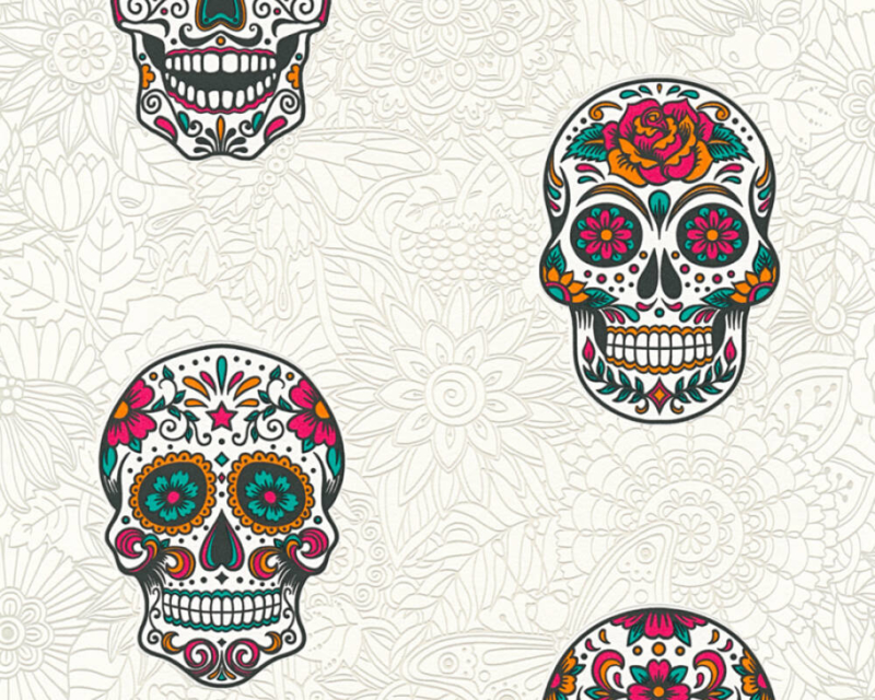 AS Creation Boys and Girls 6 behang Skulls 35817-2