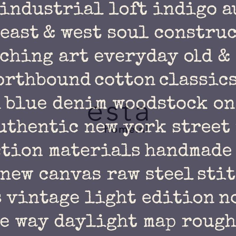 Esta Home Denim & Co. text purple 137706
