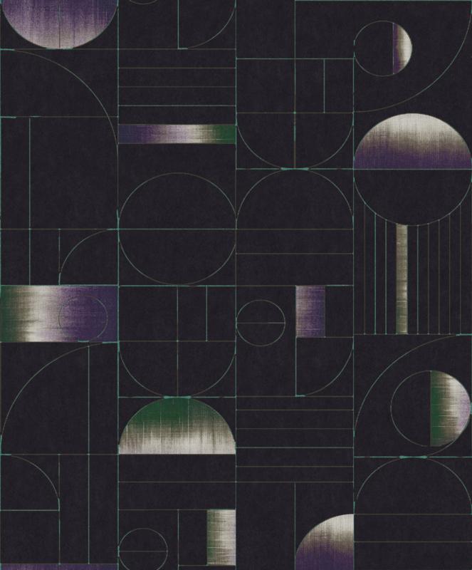 Khrôma Prisma behang Eclipse Teal PRI703