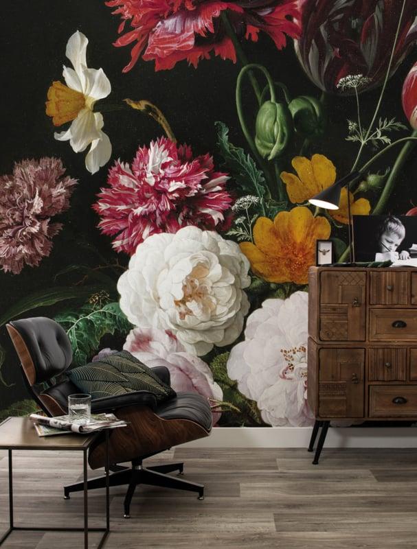 KEK Amsterdam Flora & Fauna behang Golden Age Flowers WP-201