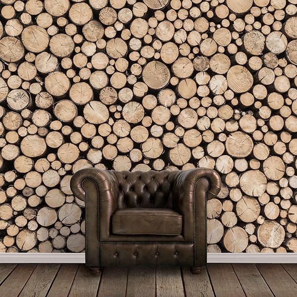Noordwand Global Fusion Mural G45275 Logs