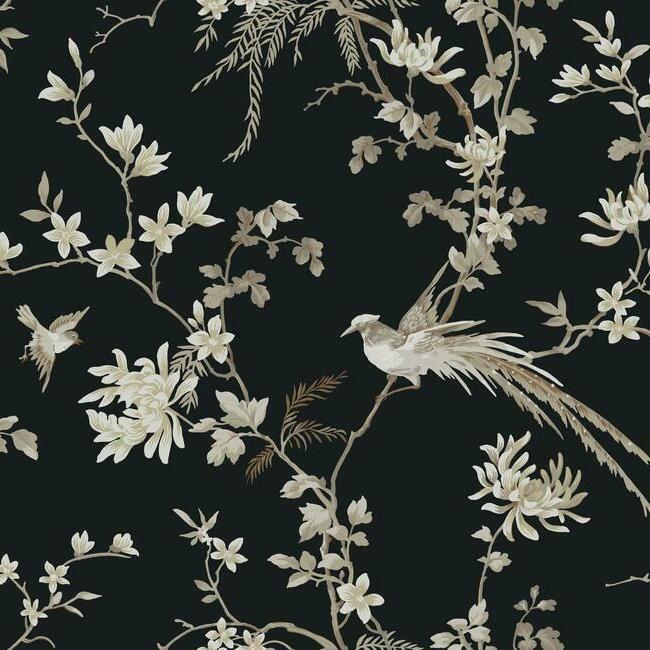York Wallcoverings Ronald Redding 24 Karat behang Bird and Blossom Chinoiserie KT2173
