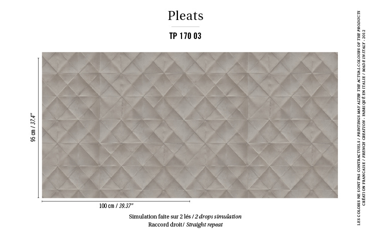 Élitis Pleats behang Mis en Plis TP 17003