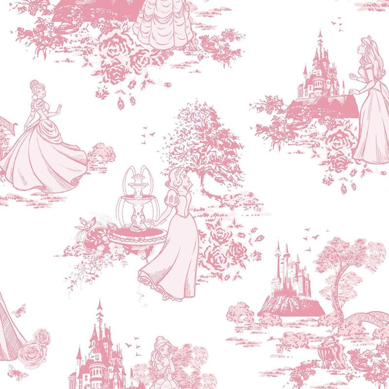 Noordwand Kids@Home Inidvidual behang Princess Pink Toile 70-233