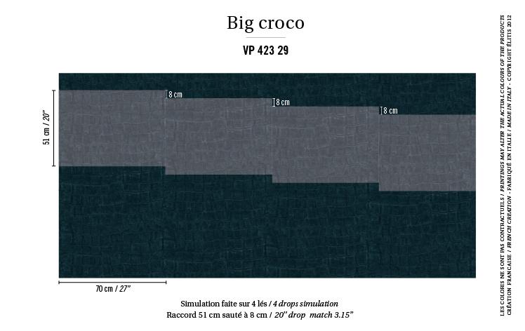 Élitis Anguille Big Croco Galuchat Big Croco behang VP 42329