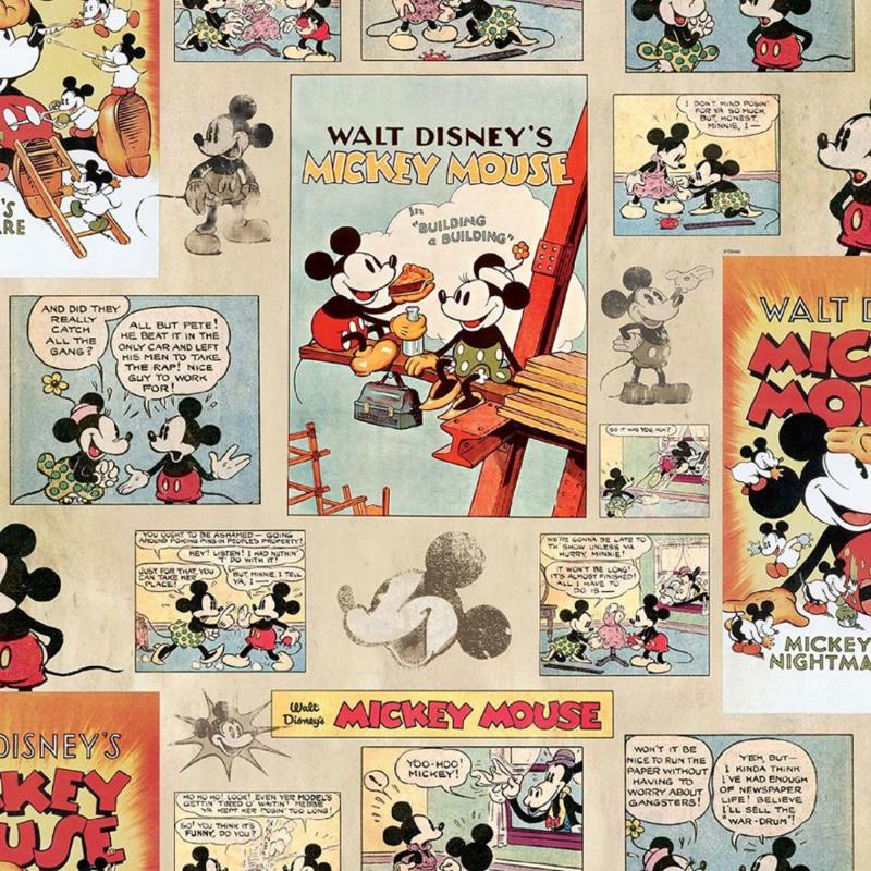 Noordwand Kids@Home Inidvidual behang Mickey Vintage Episode 70-242