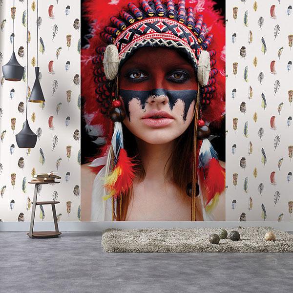 Noordwand Global Fusion Mural G45277 Native American