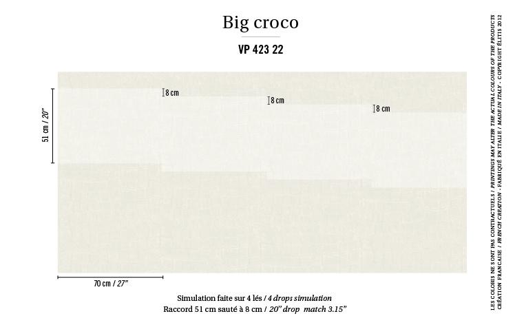 Élitis Anguille Big Croco Galuchat Big Croco behang VP 42322