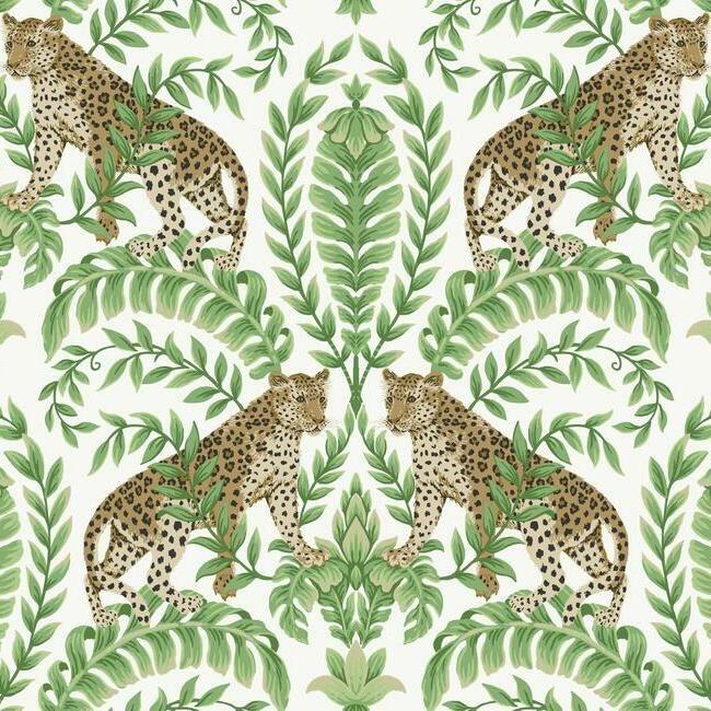 York Wallcoverings Ronald Redding 24 Karat behang Jungle Leopard KT 2203