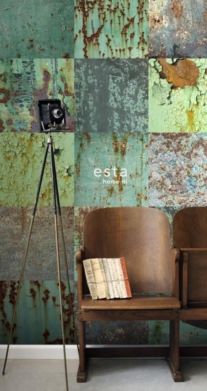 Esta Home Vintage Rules! WallpaperXXL Metalen platen 158203