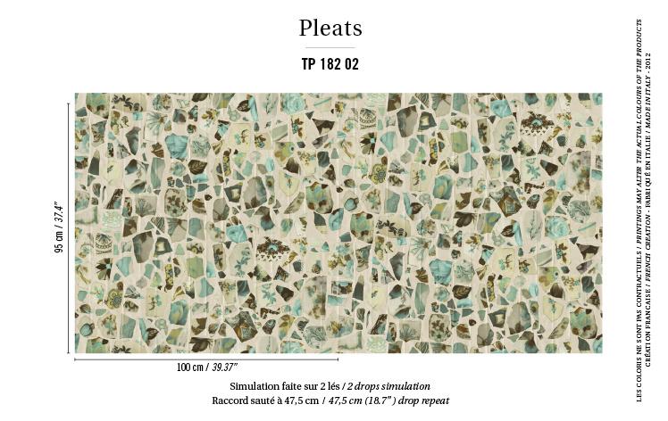 Élitis Pleats behang Portobello TP18202