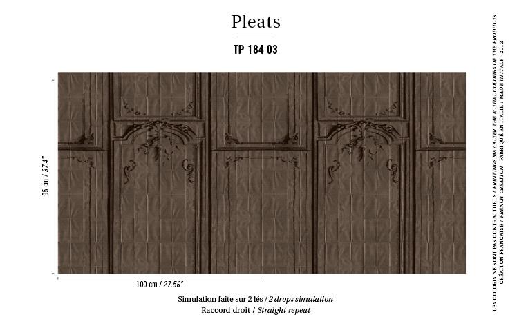 Élitis Pleats behang La Belle et la Bête TP 18403