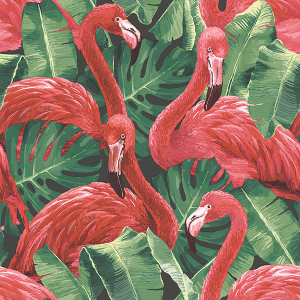 Noordwand Global Fusion Flamingo's behang G56405