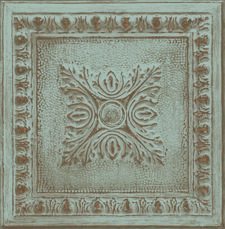 Dutch Restored Ornament Tile behang 24032