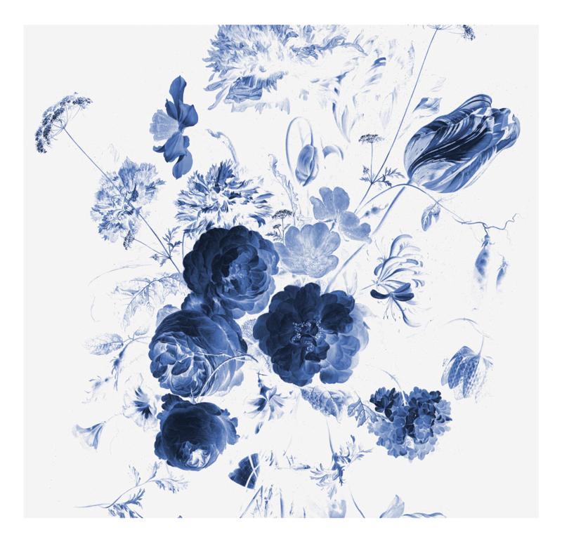 KEK Amsterdam Wonderwalls behang Royal Blue Flowers I WP-217