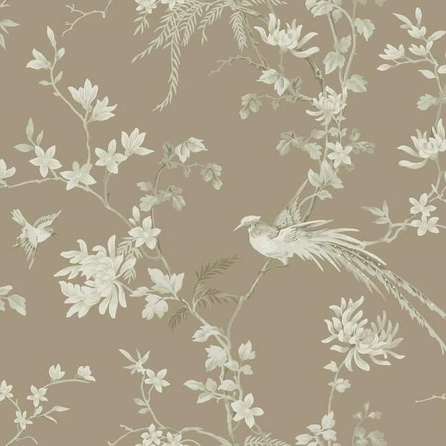 York Wallcoverings Ronald Redding 24 Karat behang Bird and Blossom Chinoiserie KT2172