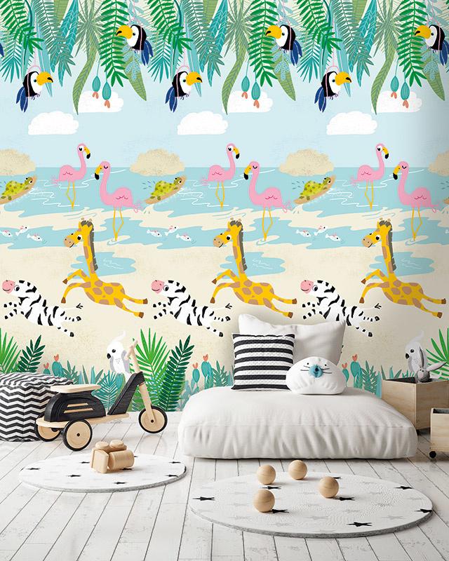 Behangexpresse Morris & Mila Wallprint Tropical paradise INK 7264