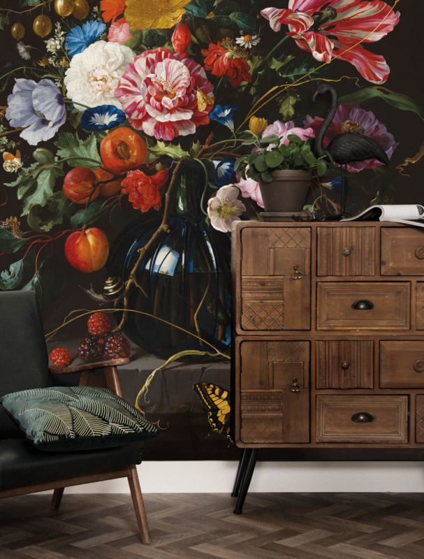 KEK Amsterdam Flora & Fauna behang Golden Age Flowers WP-231