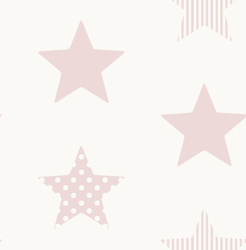 Noordwand Kids@Home Inidvidual behang Superstar Pink 108560