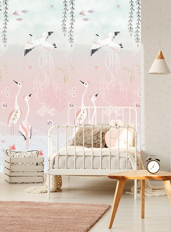 Behangexpresse Morris & Mila Wallprint Oriental Love Pink INK7268