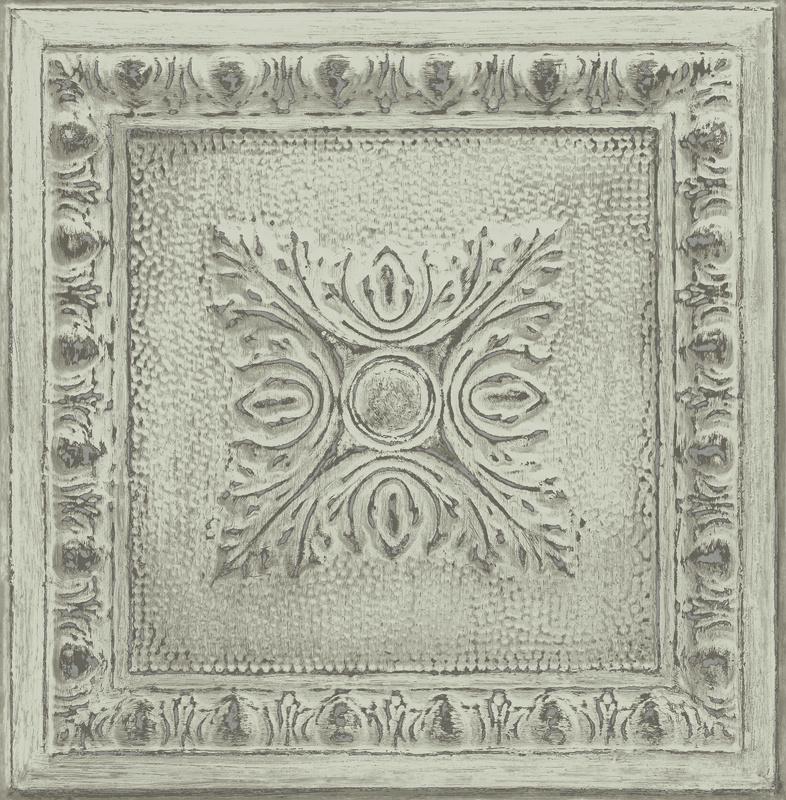 Dutch Restored Ornament Tile behang 24033