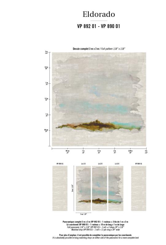 Élitis Eldorado Atelier Sauvage digitaal behang VP 892 01