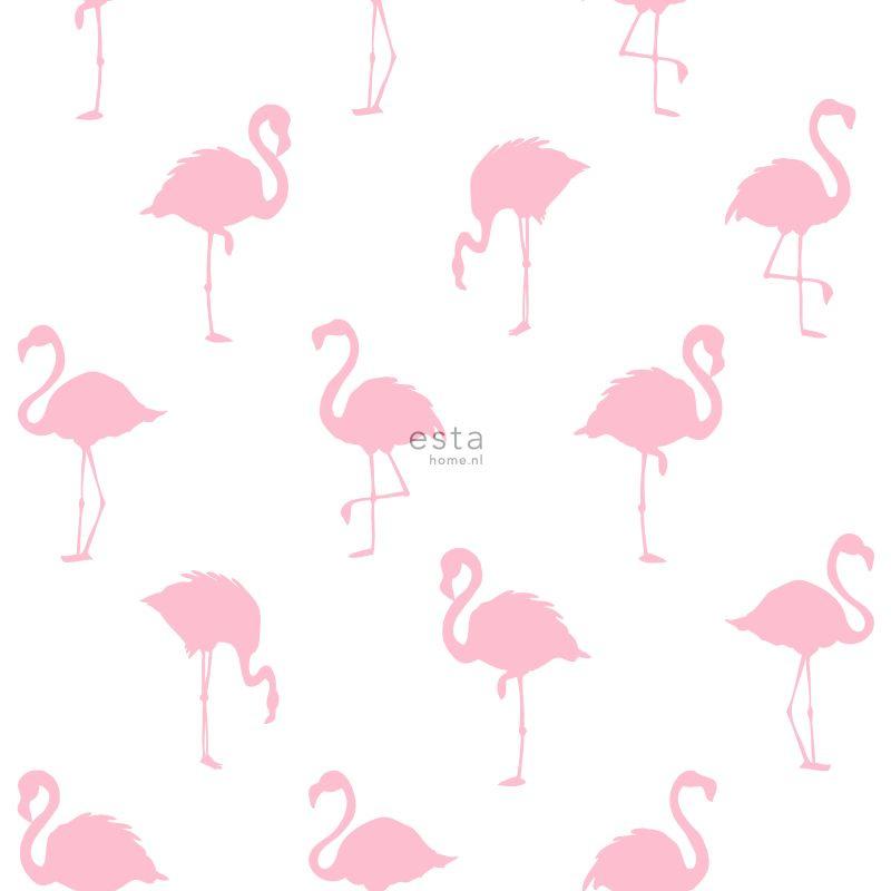 Esta Home Jungle Fever behang Flamingo's 138992