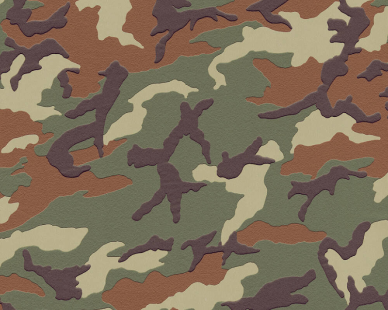 AS Creation Boys and Girls 6 behang  Camouflage 3694-06