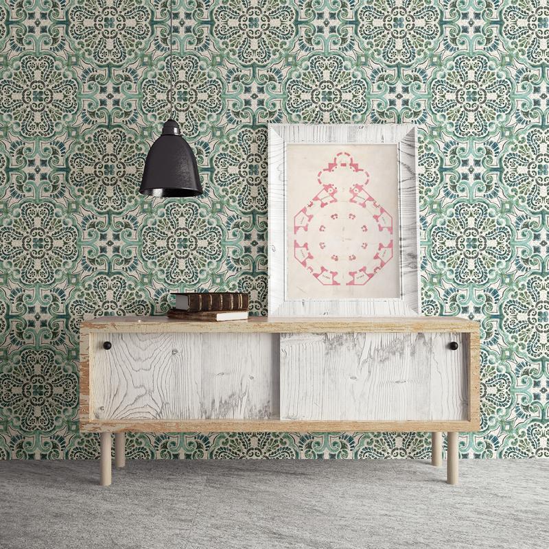 Dutch Restored Florentine Tile behang 24044