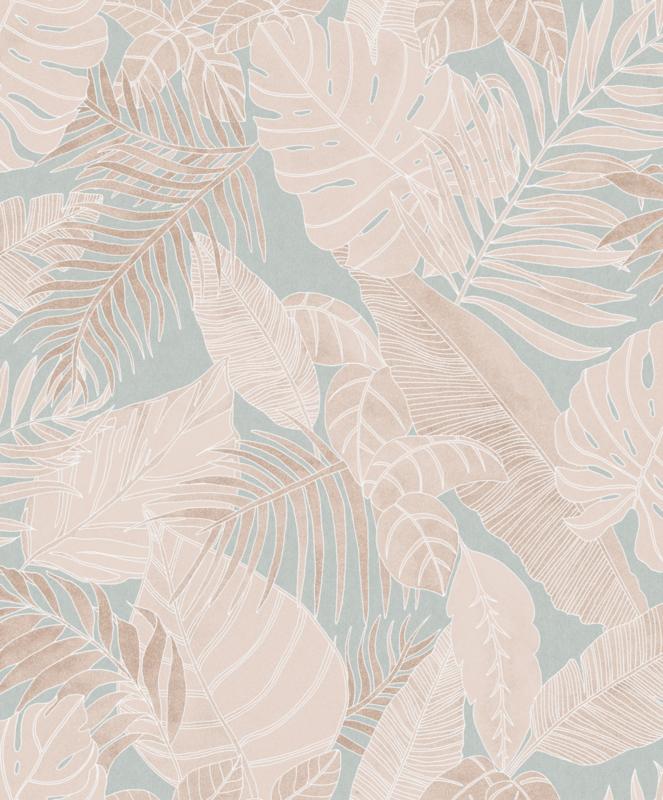 Khrôma La Vie en Rose behang Tropical Jade LAV103