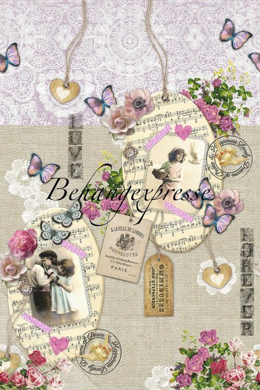 Behangexpresse COLORchoc Wallprint Romance INK 6055
